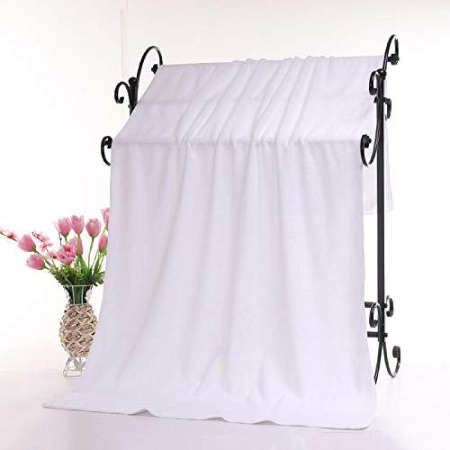 N/W Juego de Toallas de baño, Toallas Grandes, Toallas de baño Suaves y absorbentes para Adultos-White_Super Thick 80 * 180