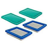 HEYZLASS 2 Pack Air Filter + Pre Filter, Compatible with Briggs Stratton 491588s...