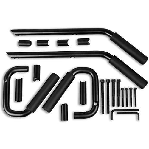 AUTOSAVER88 Front amp Rear Grab Handles Roll Bar Steel Grip Handles Compatible for Jeep Wrangler JK JKU Unlimited Sports Bubicon Sahara 20072018 4 DoorsBlack