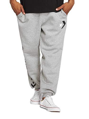 Converse Herren Star Chevron Graphic Jogger Sporthose, Grau (Vintage Grey Heather 035), W34(Herstellergröße:L)