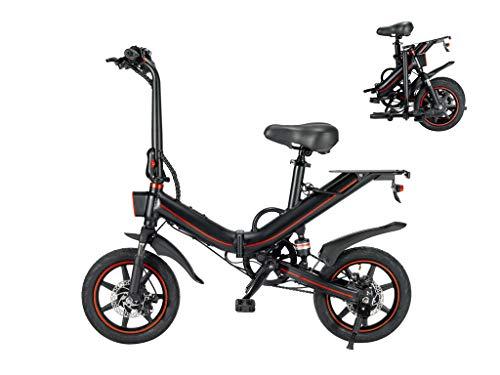 Autoshoppingcenter Elektrofahrräder Elektrofahrrad faltbares E-Bike Klapprad Ebike City Bike Mountainbike 14Zoll mit 400W Motor 25 km/h MTB 48V 15AH Lithium-Akku für Erwachsene Herren Damen Pendeln