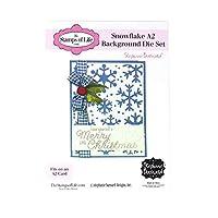 The Stamps of Life 雪の結晶 A2クリスマス バックゴーン ダイセット カード作りやスクラップブック用