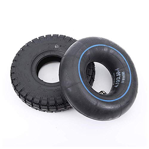 DLILI Neumáticos para Scooter eléctrico, neumáticos tubulares Interiores y Exteriores 4.10/3.50-4, Antideslizantes y Altamente Resistentes a la abrasión, Aptos para triciclos eléctricos, carros
