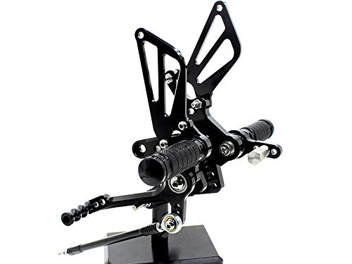 Krace Front Motorcycle Rearsets Footpegs Foot Pegs Rear Set Footrests Brake Shift Pedals Fully Adjustable Foot Boards Fit For Suzuki GSXR750 1996-2005 GSXR600 2000-2005 GSXR1000 2000-2004