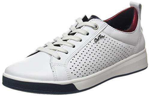 ara Damen ROM Sneaker, Weiss,BLAU/ROT 06), 38.5 EU(5.5 UK)