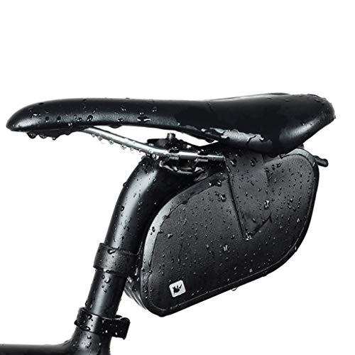 Cycling Saddle Bag, Lightweight Repair Tool Kits Bike tire Repair Tool Storage Bags Tail Tool Underseat Handlebar Bag Black-OneSize