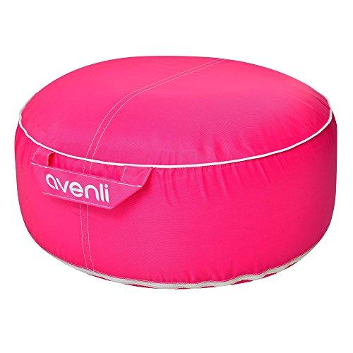 Avenli Pouf II Sitzkissen Ø55x26cm Hocker Gartenhocker Sitzkissen Sitzsack aufblasbar Outdoor Indoor pink