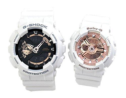 [カシオ]G-SHOCK Baby-G ペアウォッチ ペアBOX付き 腕時計 ホワイト GA-110RG-7A BA-110-7A1 [並行輸入品]
