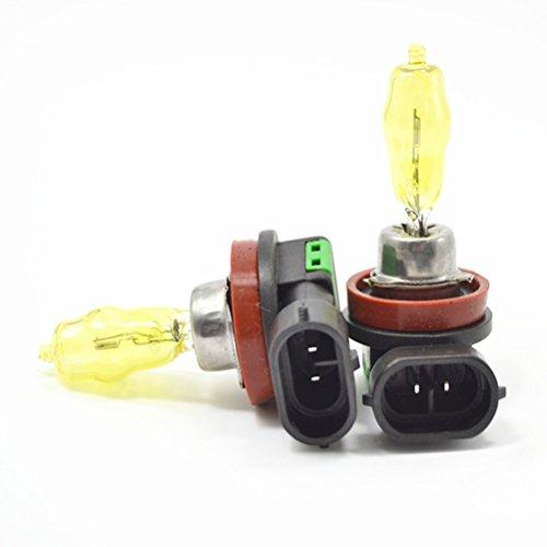 Una pareja H11 12V 100W 3000K Super luminoso amarillo luz auto Auto Xeon bombilla antiniebla delanteras luces Foglight linternas lámparas