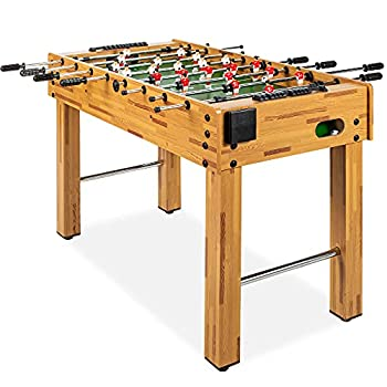 Best Choice Products 48in Competition Sized Foosball Table Arcade Table Soccer for Home Game Room Arcade w/ 2 Balls 2 Cup Holders