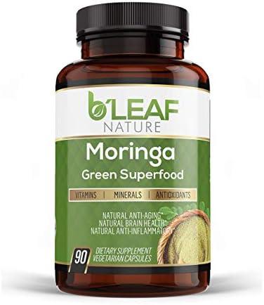 Organic Moringa 90 Capsules 1000mg Immune System and Energy Booster Pure Moringa Oleifera Leaf product image
