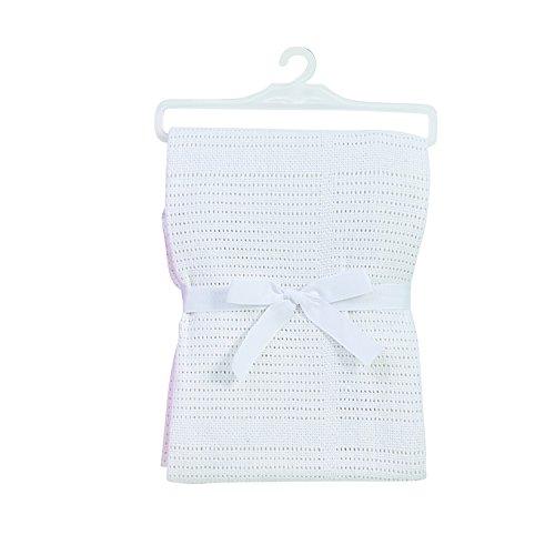 BabyDan coton cellulaire Couverture pour bébé – Blanc