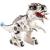 TOEY PLAY Dinosaurios Robot Eléctrico T-Rex Figuras Juguete con Luz y Sonido Juguetes Regalo para Niños Niñas 3 4 5 6 Años