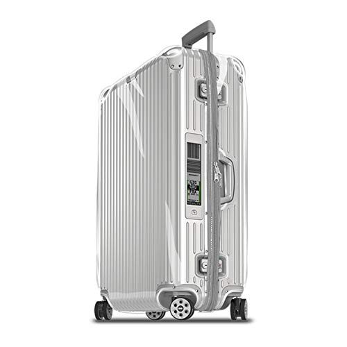 Sunikoo Suitcase Cover for Rimowa Topas Luggage Clear PVC Protector Transparent Protective Case with Gray Zipper 923/924-73