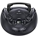 sAudio Stereo CD Boombox, Portable CD Player with AM/FM Radio and Audio Input Jack, Easy t...