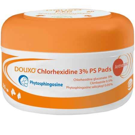 CEVA Animal Health Douxo (Sogeval) Calm Chlorhexidine Pads for Dogs & Cats (30 Count)