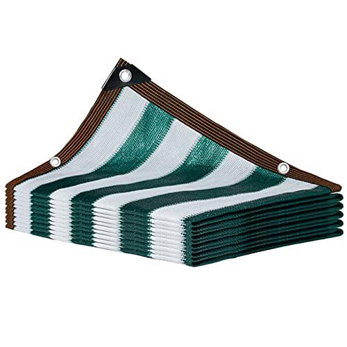 KUAIE Red de sombra 95% resistente a los rayos UV con ojales de ventilación lona de malla, utilizada en patios, balcones, techos, cocheras, 24 tamaños (color: A, tamaño: 8 × 8 m)