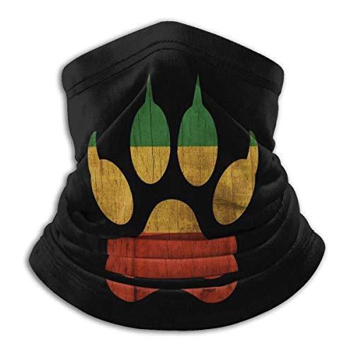 Hdadwy Hombres Rasta Raggae Etiopía cara boca cubre bufanda Unisex reutilizable versatilidad cómoda polaina de cuello a prueba de viento