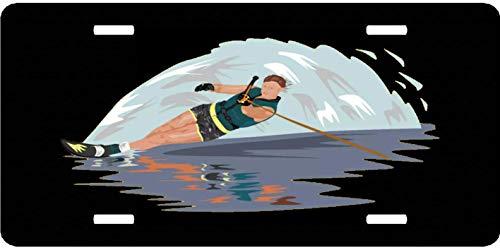 EADFH Slalom Water Skier Vintage Retro Metal Sign Wall Plaque Neuheit Auto vorne Nummernschild Tag Zeichen