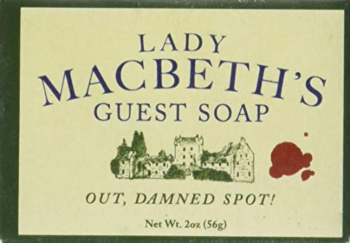 Shakespeare Lady Macbeth's Guest Soap - 1 Mini Bar of Soap - Made in The USA