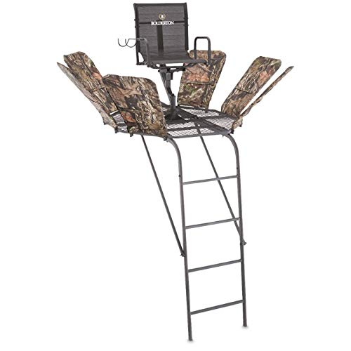 Bolderton 360 19' Ladder Tree Stand with Safety System, Ladder Stands for Deer Hunting