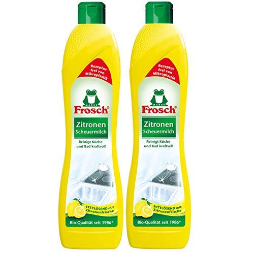 2x Frosch Zitronen Scheuermilch 500 ml - Reinigt Bad und Küche kraftvoll