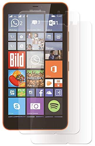 ENERGMiX Displayfolie kompatibel mit Microsoft Lumia 640XL Schutz Folie Folien (2 Stück) - Ultra Clear
