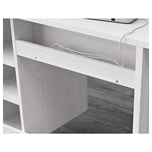 BestOnlineDeals01 BRUSALI Schreibtisch, weiß, 90 x 52 cm, langlebig und pflegeleicht. Schreibtische für zu Hause. Schreibtische und Computertische Tische und Schreibtische. Möbel. Umweltfreundlich.