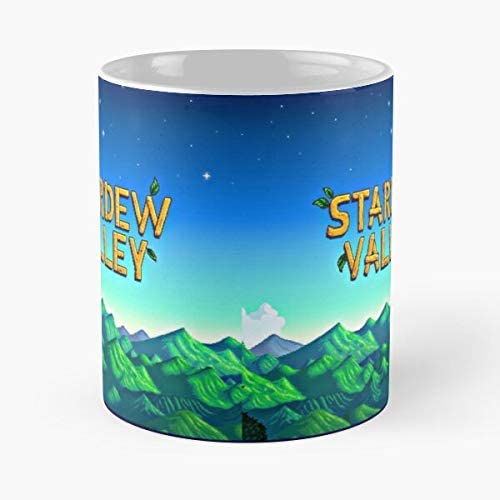 Stardew Valley Title - La mejor taza de café de cerámica de mármol blanco de 11 onzas