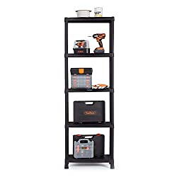 100KG MAX LOAD – with 60cm wide and 30cm deep shelves each with a max load of 20kg, this 5-tier storage unit is perfect for use in a variety of environments, including the garage, utility room, workshop, retail stores or for general use around the ho...