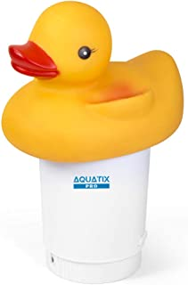Aquatix Pro Large Capacity Pool Chemical Dispenser Duck Design Strong Floating Chlorine Dispenser for Indoor & Outdoor Swimming Pools, Up to 3