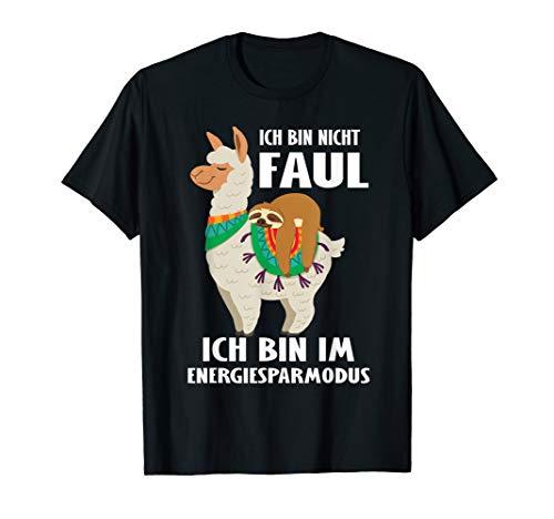 Lama Faultier Ich Bin Nicht Faul Ich Bin Im Energiesparmodus T-Shirt
