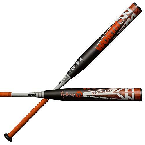 "Worth 2019 Wicked XL Ryan Harvey Signature Model USSSA Slowpitch Softball Bat, 13.5"" Barrel, 26 oz"