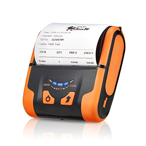 Android Bluetooth Thermal Printer, MUNBYN Portable 80MM Mini Mobile Receipt Printer with Carry Leather Belt Support Loyverse POS Software Supported ESC/POS