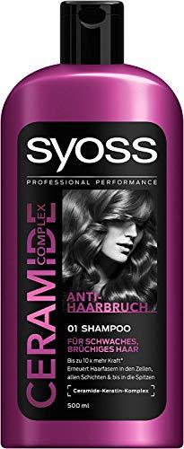 3x Syoss Shampoo Ceramide Complex je 500ml für schwaches und brüchiges Haar