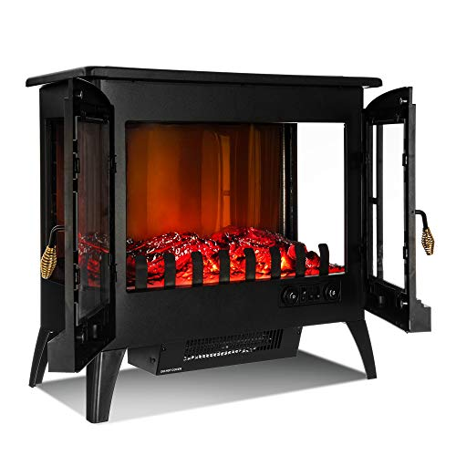 LIVIVO Log Effect Electric Stove Heater Fire
