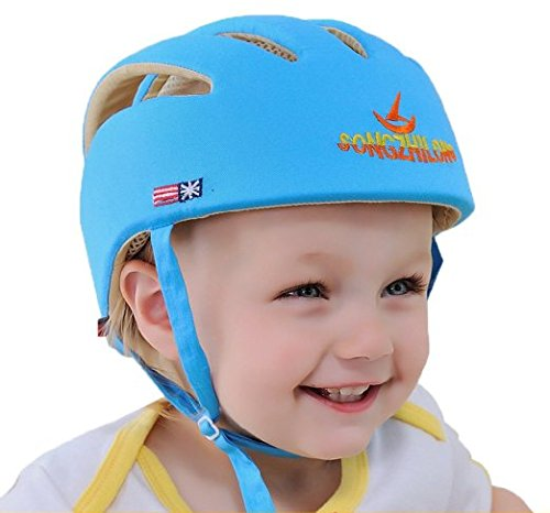Eyourhappy Infant Baby Toddler Safety Helmet Headguard Hat Adjustable Safety Protective Harnesses Cap (Blue)