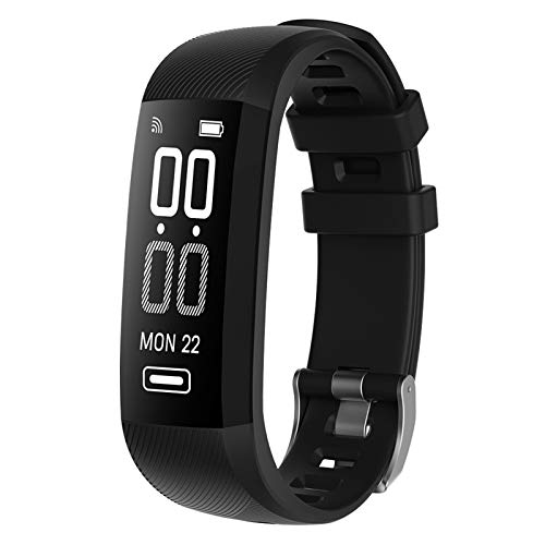 XUEXIU R5Max Smart Pulsera Moda Bluetooth Smart Watches Tasa del Corazón Pasaje De La Tarifa del Corazón Monitor De Sueño Alarma Negro Mensaje/Recordatorio De Llamadas (Color : Black)
