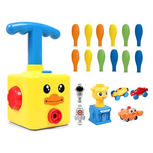 Auto Lernspielzeug,lernspielzeug 3 jahre,Vorschulspielzeug,Power Balloon Car Toy,Kinderträgheit Macht Ballon Auto Wissenschaft Auto Baby Spielzeug (Gelbe Ente)