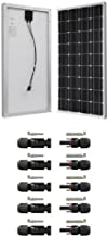 Renogy 100 Watts 12 Volts Monocrystalline Solar Panel and Cable Connectors Double Seal Rings