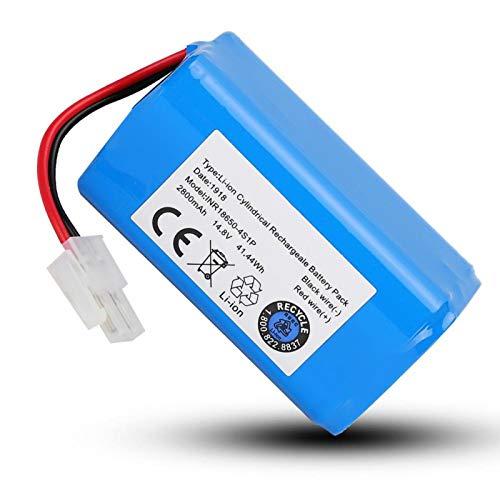 FOLOSAFENAR 100% Compatible 2800mAh Batería ABS Azul Aspiradora Batería para Sistema BMS para Ilife A4 A4S A6 V7 Robot Aspirador para Chip de Gama Alta para Seiko