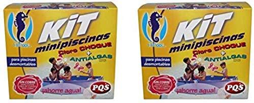 Kit MINIPISCINAS (Cloro+ANTIALGAS) Pack DE 2 Unidades