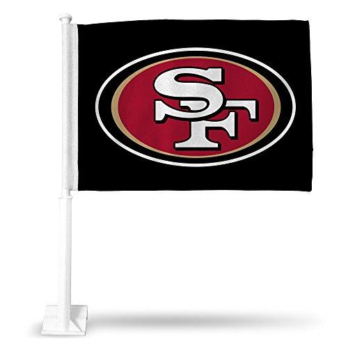 NFL Rico Industries Car Flag including Pole, San Francisco 49ers - Black
