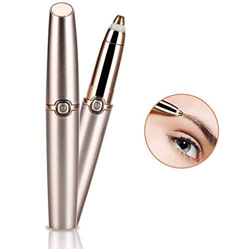 NoNo Augenbrauen-Trimmer, Painless Augenbraue Haarentferner mit Licht, Augenbraue Epilierer mit 2 Köpfe (Rose Gold)
