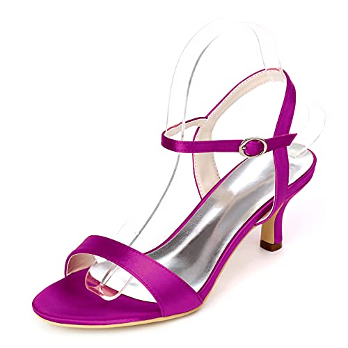 Zapatos De Novia De Satén Sandalias De Tacones Altos De Fiesta De...