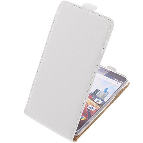 foto-kontor Tasche für Archos 55 Helium Ultra Smartphone Flipstyle Schutz Hülle weiß