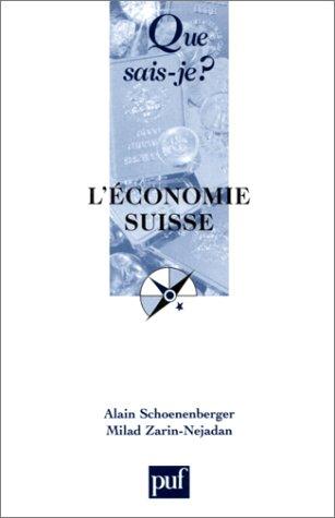 L'économie suisse (Que sais-je ?)