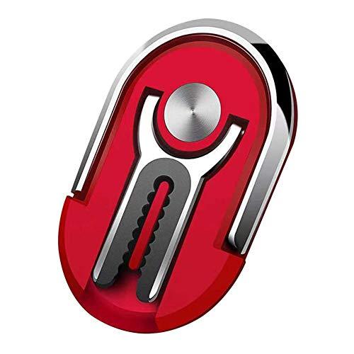 BRxiasea Soporte para teléfono de coche, soporte para teléfono 2 en 1, soporte para teléfono móvil, soporte para teléfono (rojo)