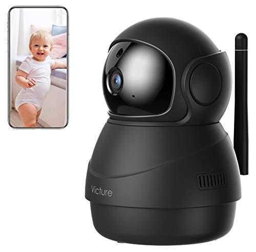 [Nuova Versione] Victure Home 1080P Telecamera di Sorveglianza WiFi, Videocamera Interna con Visione Notturna, Notifiche nel Tempo Reale del Rilevamento di Movimento e del Suono
