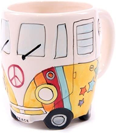 Preisvergleich für Hippie Bus Tasse in 3 versch. Farben, Farbe:gelb
